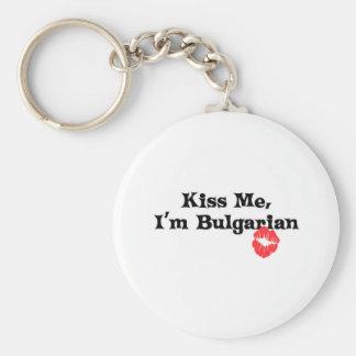 Kiss Me I'm Bulgarian Basic Round Button Key Ring