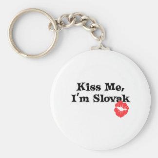 Kiss Me I apos m Slovak Keychain