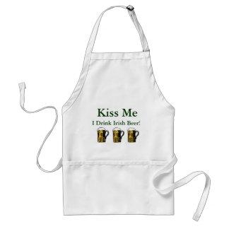 Kiss Me, I Drink Irish Beer! Adult Apron