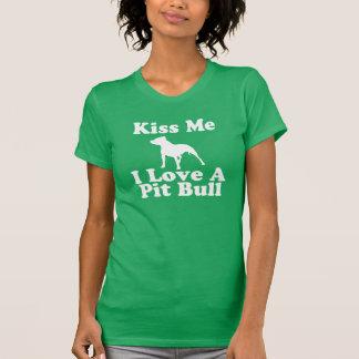 Kiss Me I Love A Pit Bull - AA Tee for Women