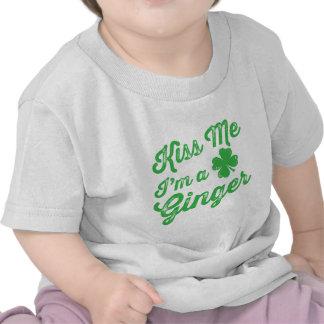 Kiss Me I m a Ginger Tee Shirt