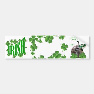 Kiss me I m a Irish meerkat design Bumper Stickers