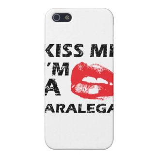 Kiss me i m a paralegal iPhone 5 case