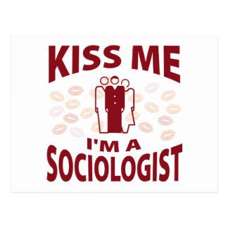 Kiss Me I m A Sociologist Post Card