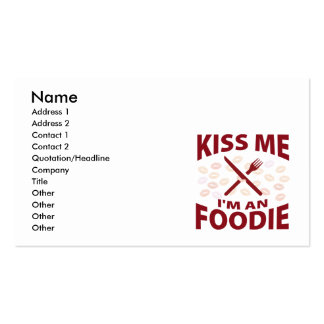 Kiss Me I m An Foodie Business Card Template