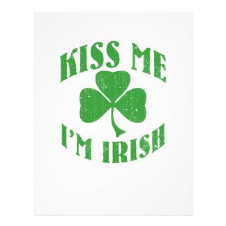 Kiss me I m Irish Flyer Design