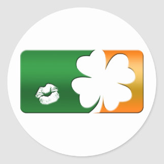 Kiss Me I m Irish Logo Stickers