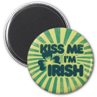 Kiss me I m Irish Refrigerator Magnet