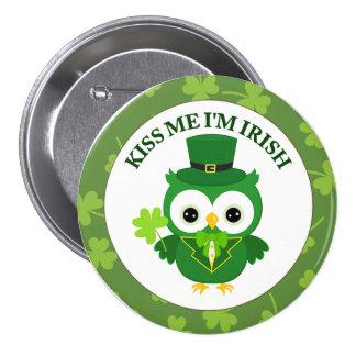 Kiss Me I m Irish Owl Pins