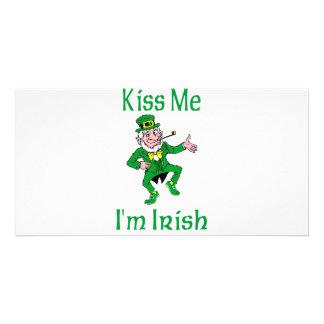 Kiss Me I m Irish Photo Card