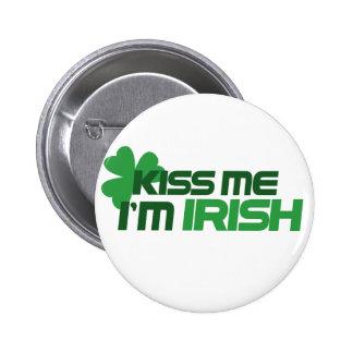 Kiss me I m Irish Pinback Button