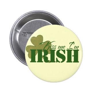 Kiss me I m Irish Pinback Buttons