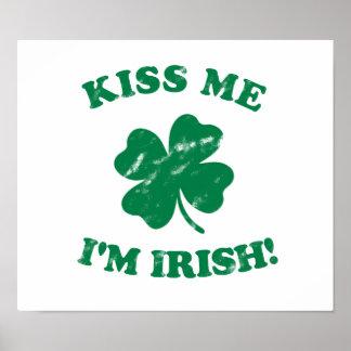 Kiss me I m Irish Vintage Posters