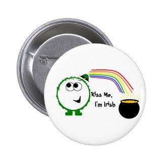 Kiss Me I m Irish Weeble Pin
