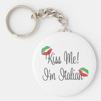 Kiss Me I m Italian Keychain