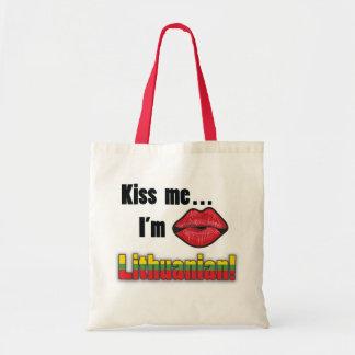 Kiss me I m Lithuanian Tote Bag