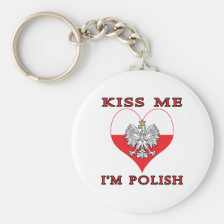 Kiss Me I m Polish Keychains
