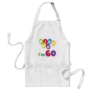 Kiss Me I'm 60 Birthday Tshirts and Gifts Standard Apron