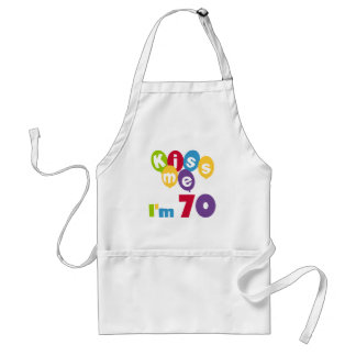 Kiss Me I'm 70 Birthday T-shirts and Gifts Standard Apron