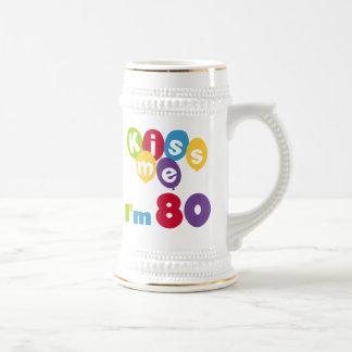 Kiss Me I'm 80 Birthday T-shirts and Gifts Coffee Mug