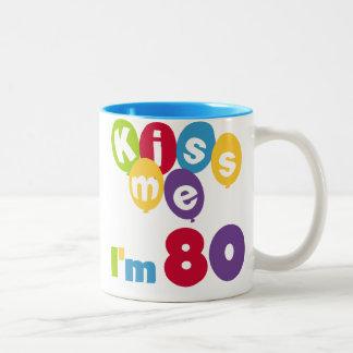 Kiss Me I'm 80 Birthday T-shirts and Gifts Coffee Mugs