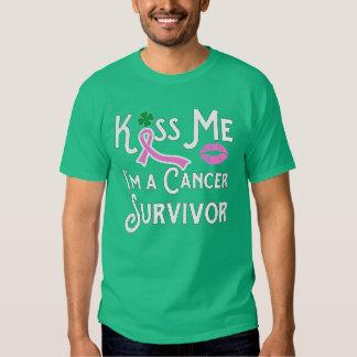 Kiss Me I'm a Breast Cancer Survivor Unisex Size Tshirt
