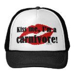 Kiss Me I'm a Carnivore Mesh Hats
