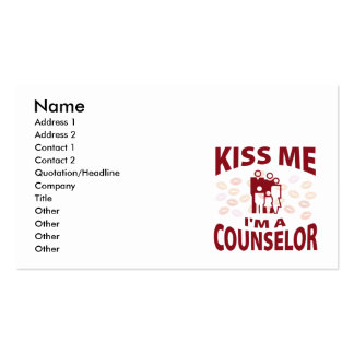 Kiss Me I'm A Counselor Business Card Template
