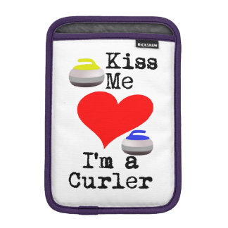 Kiss me I'm a Curler iPad Mini Sleeve