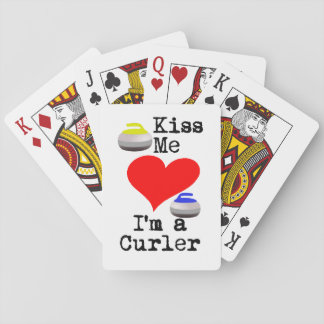 Kiss me I'm a Curler Playing Cards