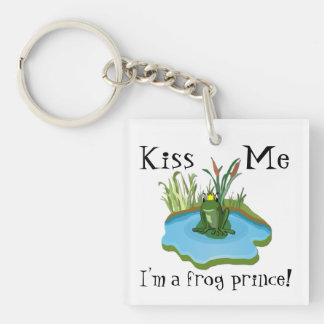 Kiss Me I'm a Frog Prince Key Chain