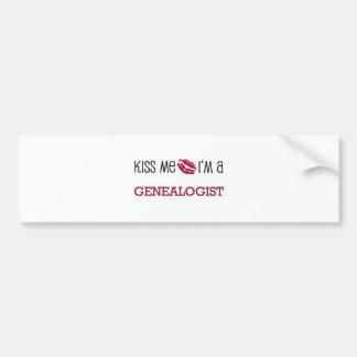 Kiss Me I'm a GENEALOGIST Bumper Sticker