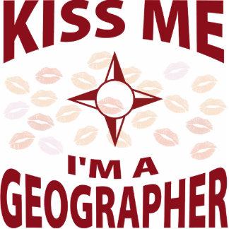 Kiss Me I'm A Geographer Photo Sculpture Decoration