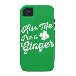 Kiss Me I'm A Ginger! Case-Mate iPhone 4 Covers