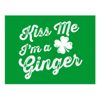 Kiss Me I'm A Ginger! Postcard
