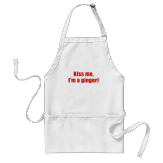 Kiss Me Im a Ginger Standard Apron