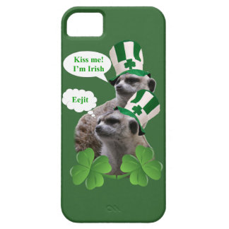 Kiss me I'm a Irish meerkat design Case For The iPhone 5