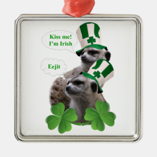 Kiss me I'm a Irish meerkat design Christmas Ornament