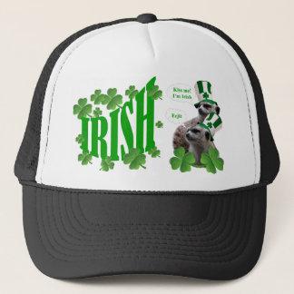 Kiss me I'm a Irish meerkat design Trucker Hat