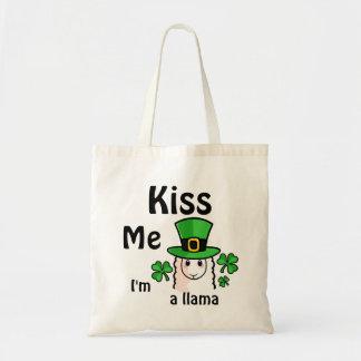 Kiss Me, I'm a Llama Budget Tote Bag