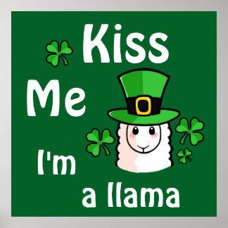 Kiss Me, I'm a Llama Poster
