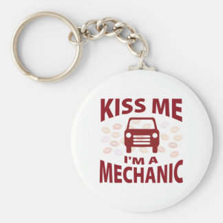 Kiss Me I'm A Mechanic Key Ring