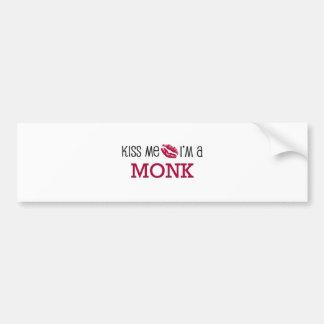 Kiss Me I'm a MONK Bumper Sticker