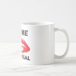 Kiss me i'm a paralegal basic white mug