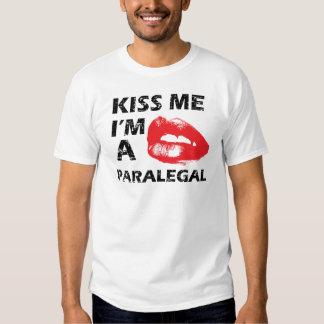 Kiss me i'm a paralegal tee shirt