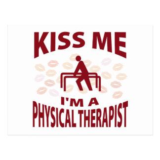 Kiss Me I'm A Physical Therapist Postcard