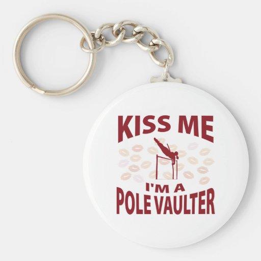 Kiss Me I'm A Pole Vaulter Key Chains