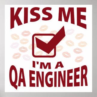 Kiss Me I'm A QA Engineer Posters