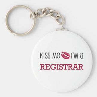 Kiss Me I'm a REGISTRAR Basic Round Button Key Ring