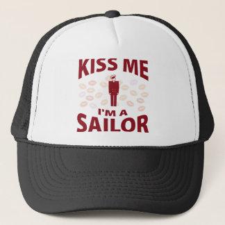 Kiss Me I'm A Sailor Trucker Hat